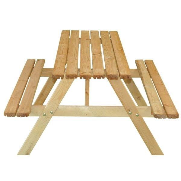 Kinderpicknicktafel recht voorstaand