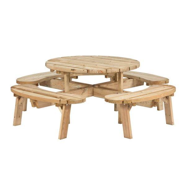 Ronde picknicktafel voor 8 personen