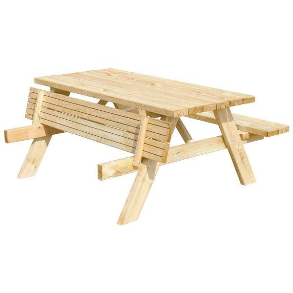 Picknicktafel Deluxe schijn voorstaand met klapbank