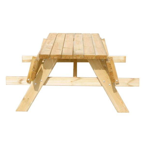 Picknicktafel Deluxe 180 recht voorstaand met klapbanken