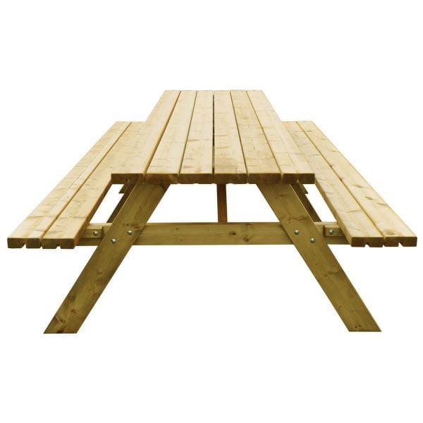 Picknicktafel Deluxe 300 centimeter recht voorstaand
