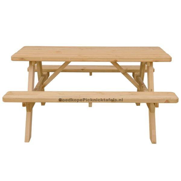 Picknicktafel 150 centimeter zij aanzicht